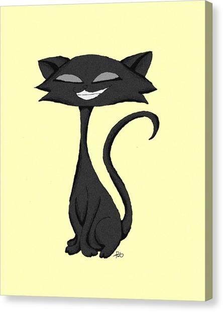 Sleek Cat Chuckling Canvas Print
