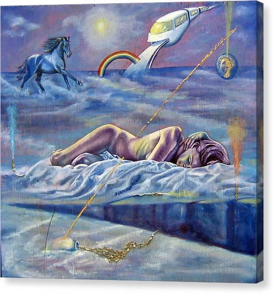 Sleep Crack Canvas Print by Maritza Sanipatin