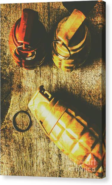 Grenades Canvas Print - Sleeper Cell Marines Activated by Jorgo Photography - Wall Art Gallery