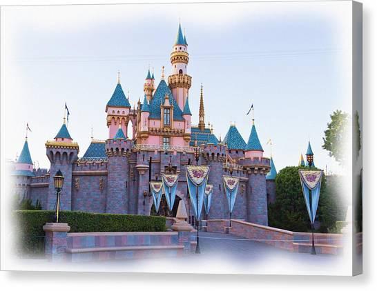 Sleeping Beauty's Castle Disneyland Canvas Print