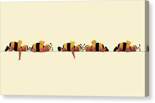 Canvas Print - Sleeping Bees by Anne Geddes