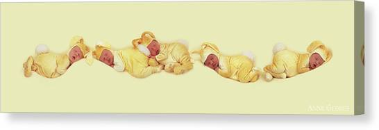 Easter Bunny Canvas Print - Sleeping Bunnies by Anne Geddes