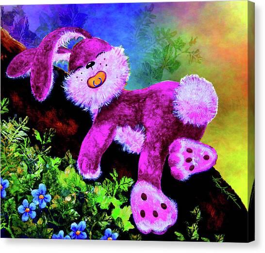 Easter Bunny Canvas Print - Sleeping Bunny by Hanne Lore Koehler