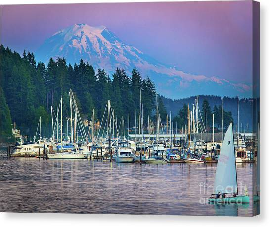 Mount Rainier Canvas Print - Sleeping Giant by Inge Johnsson
