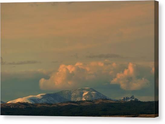 Sleeping Giant Canvas Print - Sleeping Giant Near Helena Montana by Kae Cheatham
