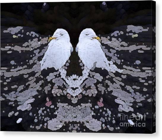 Sleeping Gull Canvas Print by Patrick Guidato
