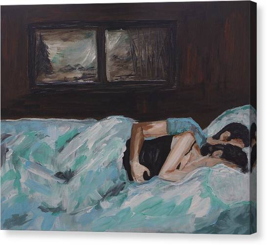 Other Canvas Print - Sleeping In by Leslie Allen