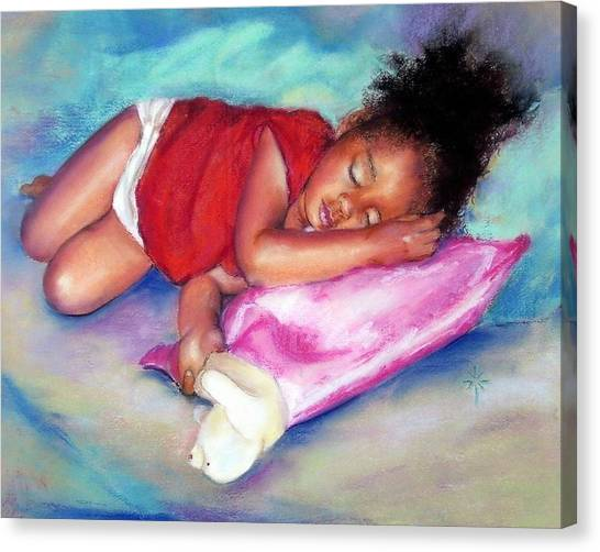 Sleeping On A Cloud Canvas Print