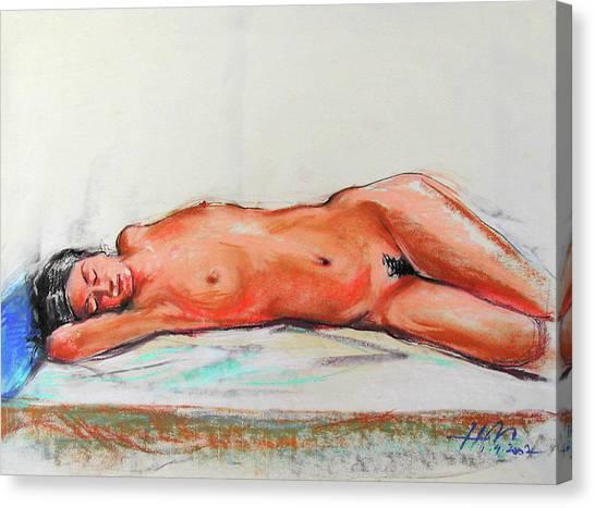Canvas Print - Sleepingblue by Johannes Margreiter