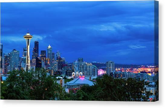 Seattle Mariners Canvas Print - Sleepless In Seattle by Stephen Stookey