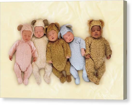 Teddy Bears Canvas Print - Sleepy Bears by Anne Geddes