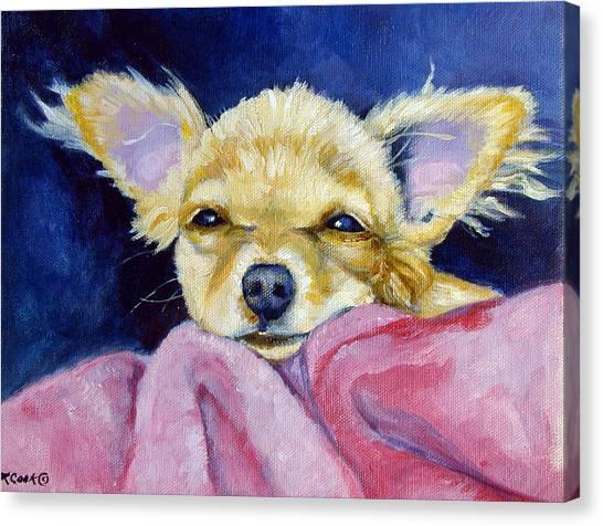 Chihuahuas Canvas Print - Sleepy Chi - Chihuahua by Lyn Cook