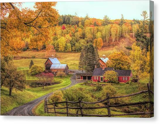 Sleepy Hollow - Pomfret Vermont In Autumn Canvas Print