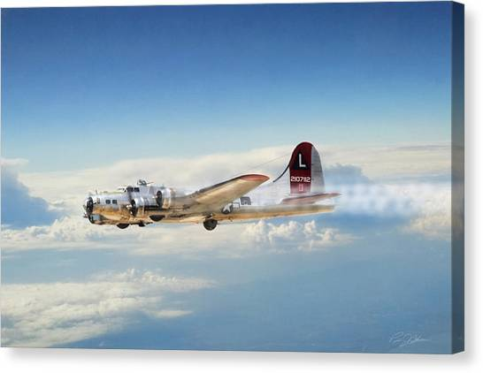 United States Army Air Corps Canvas Print - Sleepy Time Gal by Peter Chilelli