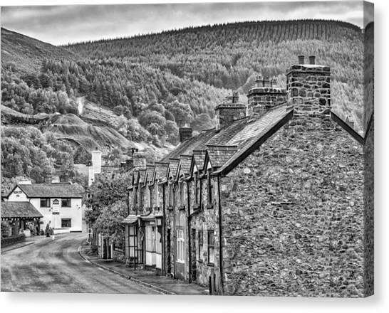 Sleepy Welsh Village Canvas Print