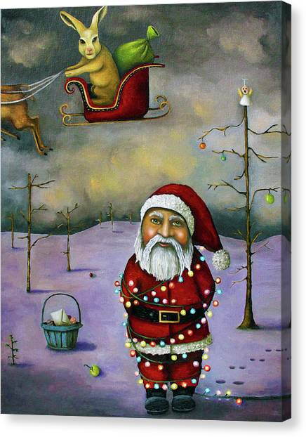 Easter Bunny Canvas Print - Sleigh Jacker by Leah Saulnier The Painting Maniac