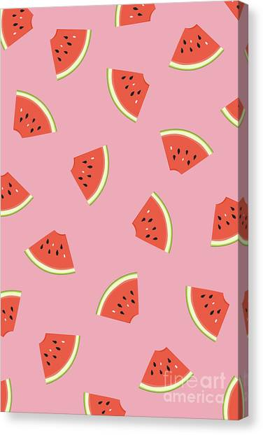 Watermelons Canvas Print - Slice Of Life by Elizabeth Tuck