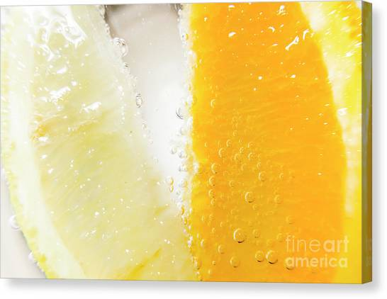 Horizontal Canvas Print - Slice Of Orange And Lemon In Cocktail Glass by Jorgo Photography - Wall Art Gallery