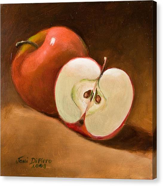 Sliced Apple Canvas Print by Joni Dipirro