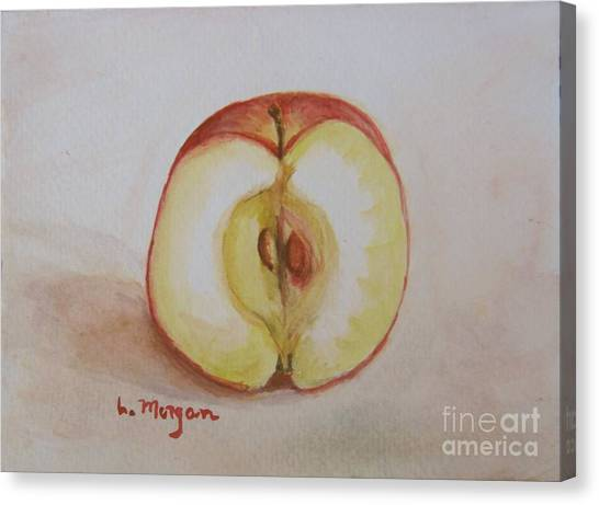 Sliced Apple Canvas Print
