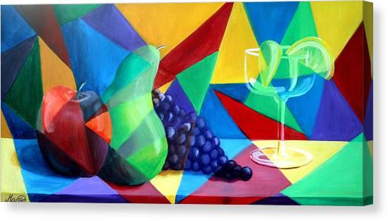 Sliced Fruit Canvas Print by Maryn Crawford