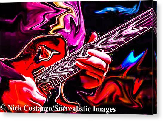 Slide Guitars Canvas Print - Slide Guitar by Nicholas Costanzo