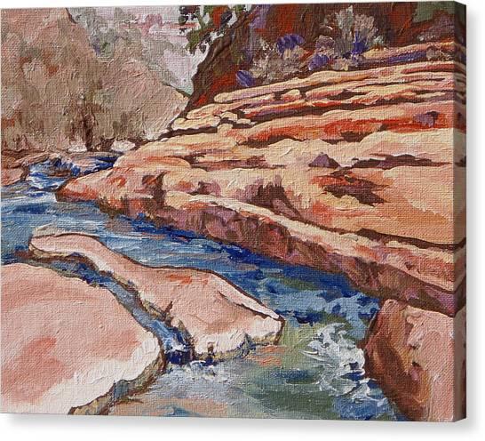 Slide Rock Canvas Print