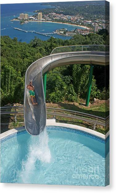 Slide With A View  Canvas Print