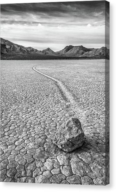 Sliding Stone, Racetrack Playa Canvas Print