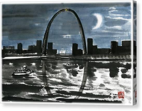Slient Moon Light Canvas Print