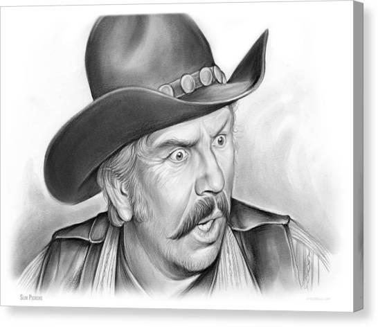Saddles Canvas Print - Slim Pickens by Greg Joens