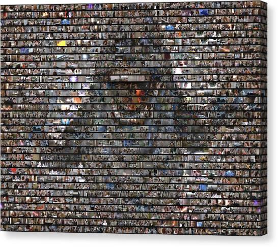 Ghostbusters Canvas Print - Slimer Mosaic by Paul Van Scott