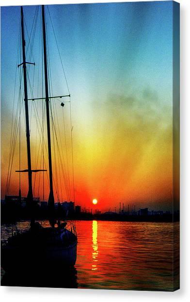 Slipper Island Sunset Canvas Print
