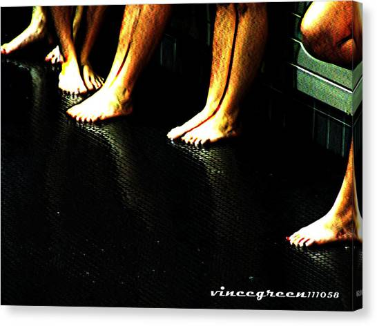 Slippery When Wet Canvas Print