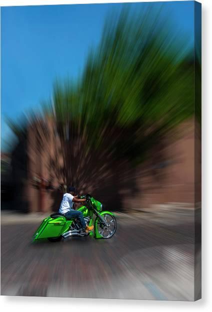 Motorcyclist Canvas Print - Slo Cruz by Marvin Spates