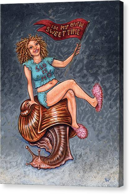 Slo Woman Canvas Print