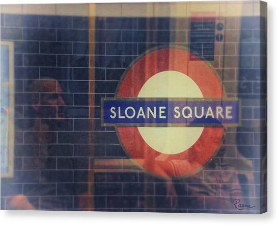 Sloane Square Portrait Canvas Print