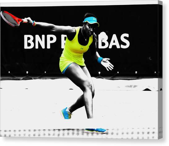 Maria Sharapova Canvas Print - Sloane Stephens by Brian Reaves