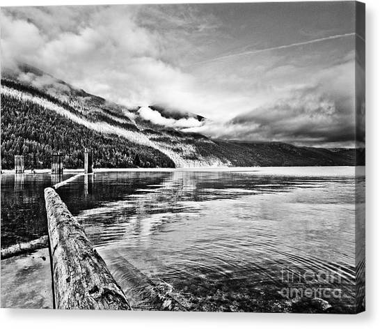 Slocan Lake Bc Canvas Print by Emilio Lovisa