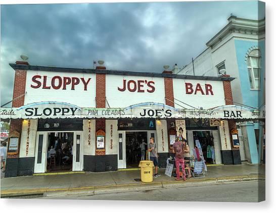 Ernest Hemingway Canvas Print - Sloppy Joe's Bar Key West Florida by Betsy Knapp