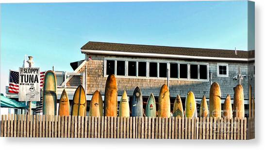 Sloppy Tuna Restaurant, Montauk Long Island Canvas Print