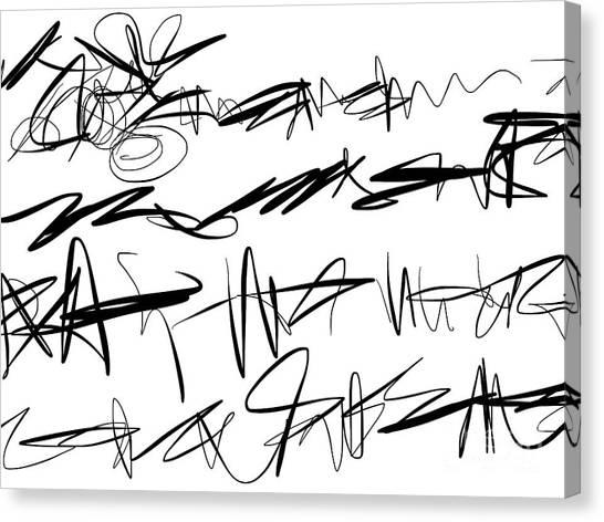 Sloppy Writing Canvas Print