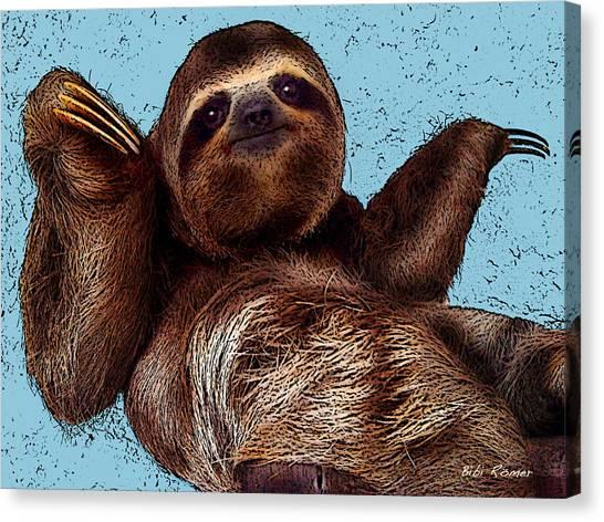 Sloth Pop Art Canvas Print