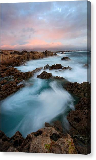 Slow Exposure Kerry Sunset Ireland Canvas Print by Pierre Leclerc Photography