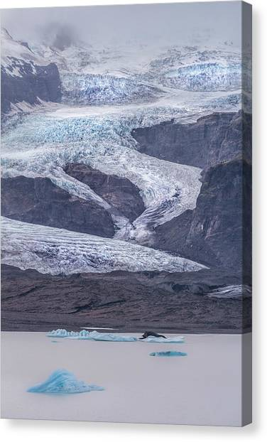 Glacier Bay Canvas Print - Slow Motion Glacier by Jon Glaser