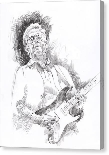 Eric Clapton Canvas Print - Slowhand by David Lloyd Glover