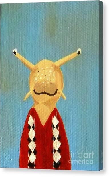 Slug's School Picture Canvas Print