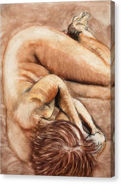 Slumber Pose Canvas Print