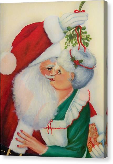Sly Santa Canvas Print