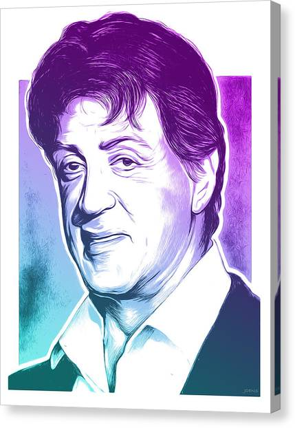Stallone Canvas Print - Sly Stallone by Greg Joens
